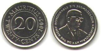 piece de monnaie ile maurice