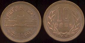 Les monnaies en Asie de l'(extrême) est Jap100