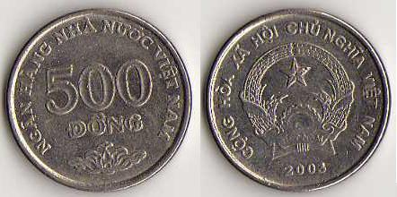 Les monnaies en Asie de l'(extrême) est Viet_nam_500